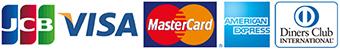 ご利用可能なクレジットカード【JCB、VISA、Master Card、AMERICAN EXPRESS、Diners Club】